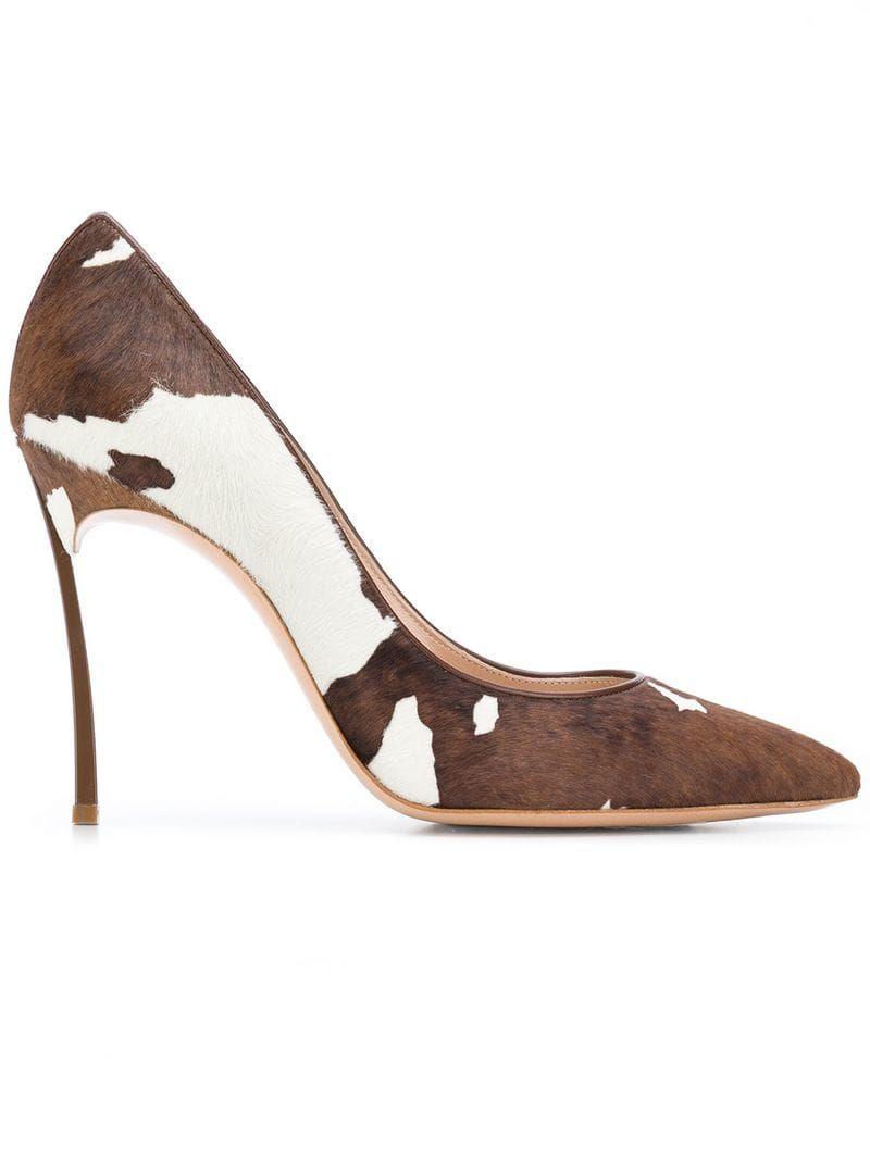 46afc9334100 CASADEI COW PRINT PUMPS.  casadei  shoes