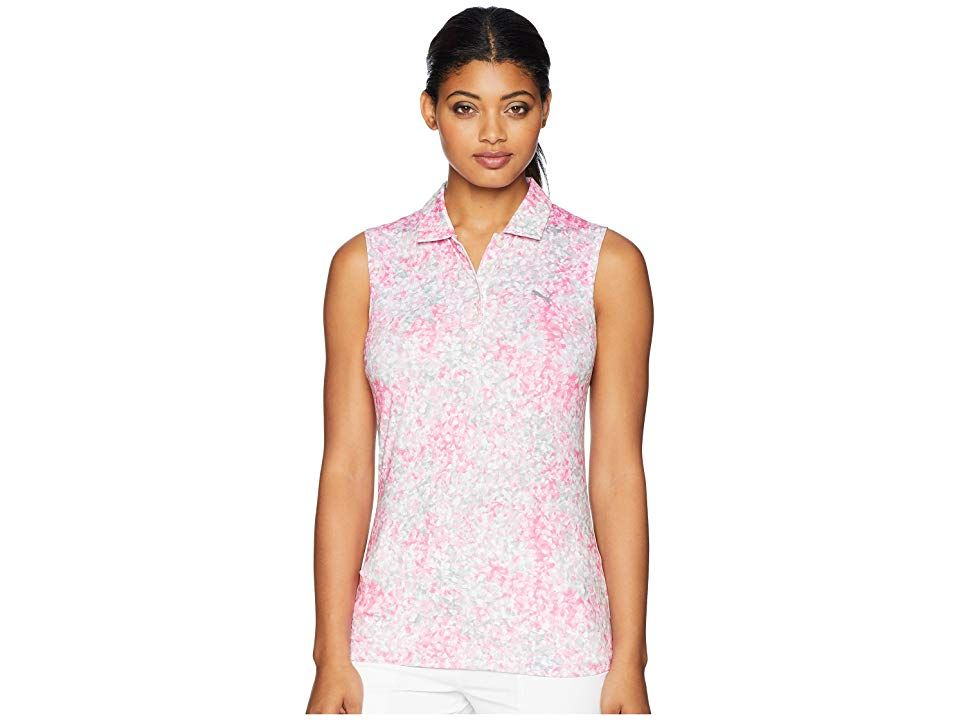 37eb219f6a3bb PUMA Golf Floral Sleeveless Polo (Carmine Rose) Women s Sleeveless. Ditch  the sleeves and