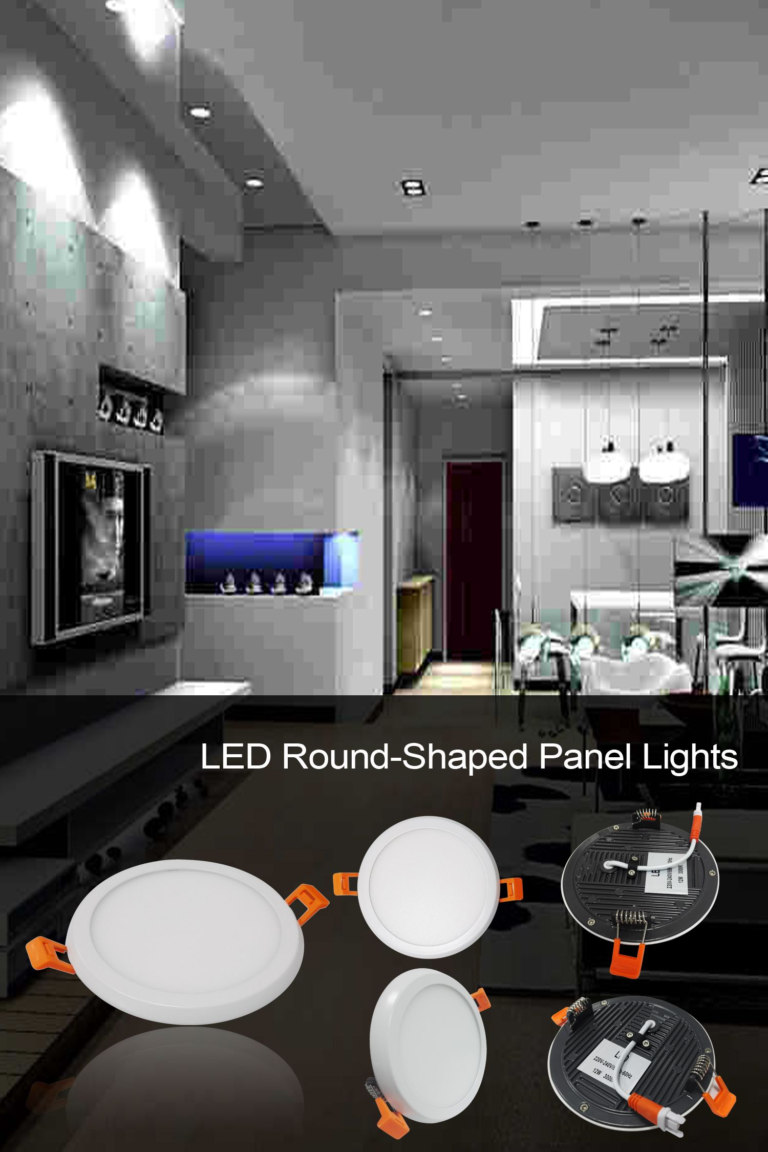 Ultra Slim Led Round Downlight For Living Room And Bedroom As