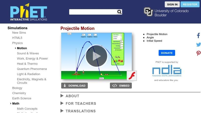 fREE science and physics simulations from pHET! This one is