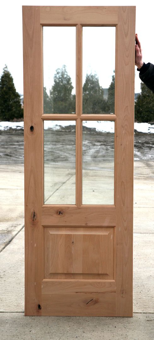 Interior French Doors 4 Lite Alder