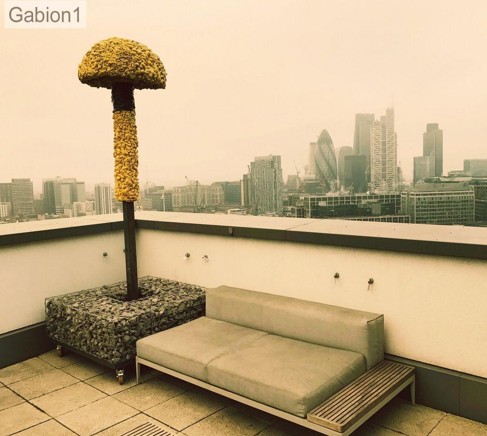 gabion planter on London roof top http://www.gabion1.co.uk | Gabion ...