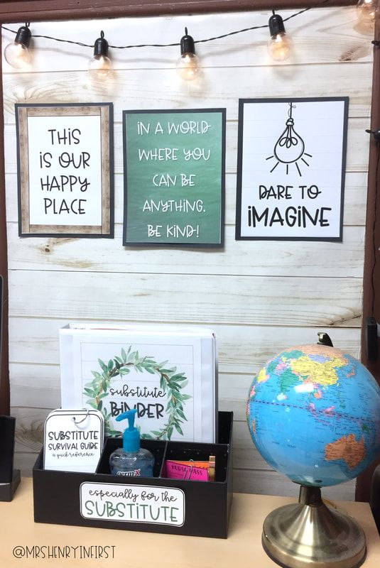 Farmhouse Classroom Decor Makeover! Tons of pics!! From @mrshenryinfirst #classroomdecor
