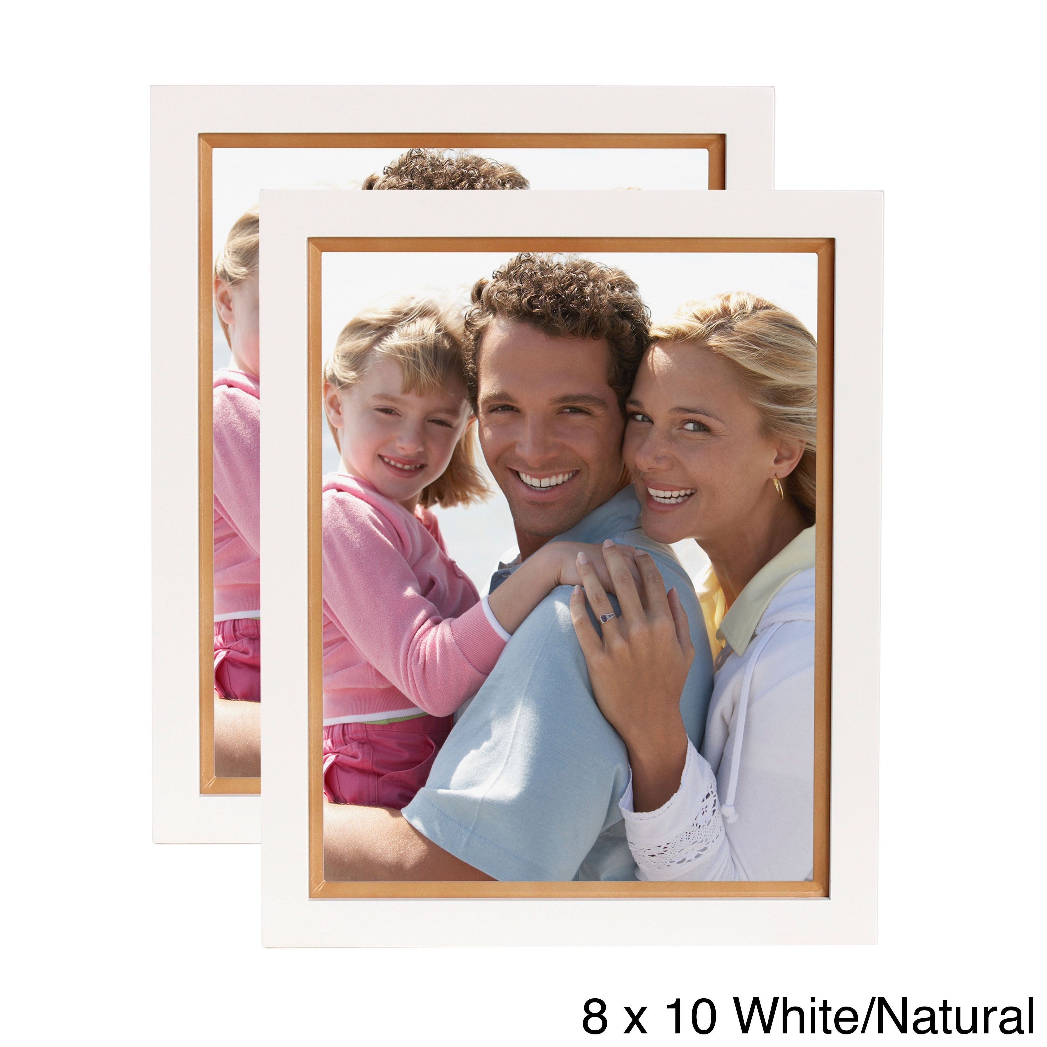 Designovation Muse Wood Picture Frame (Walnut - 8x10), Brown | Wood ...
