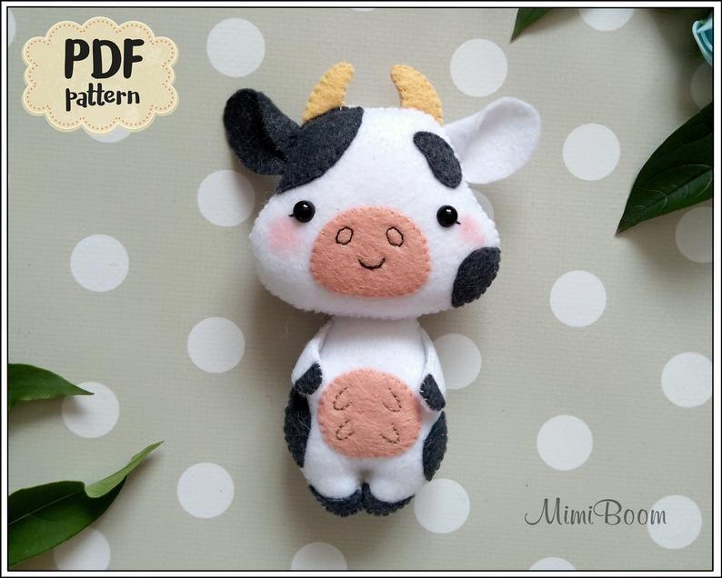 Felt cow