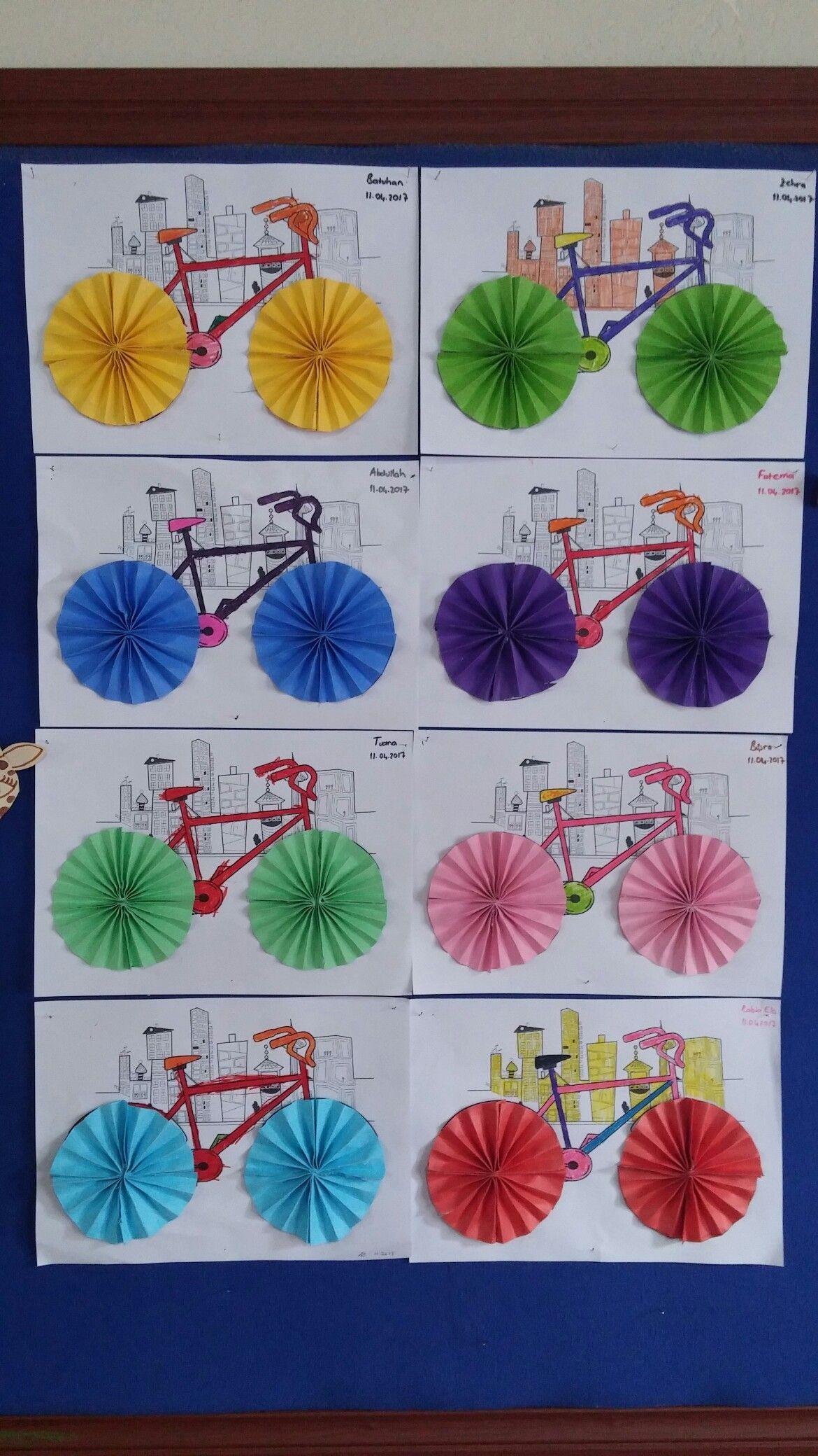 Велосипед . Делаем с малышами. Развиваем моторику.