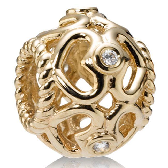 cedcc4634 Pandora 14K Open Heart with Diamonds Charm 395.00 US | Pandora ...
