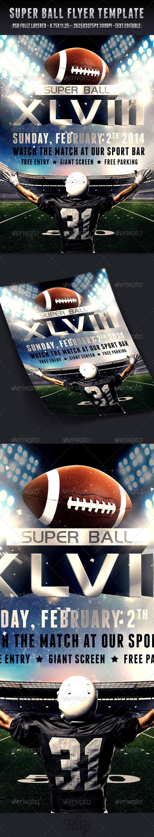 Super Ball Football Flyer Template Pinterest Flyer Template