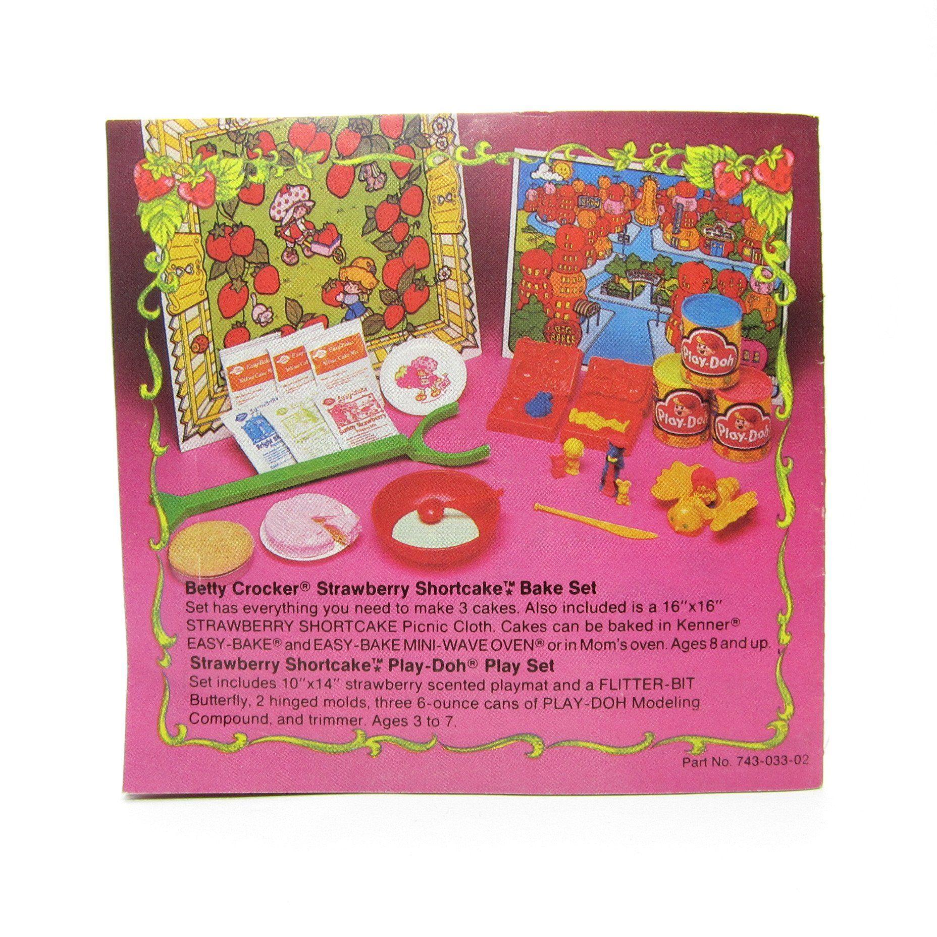 strawberry shortcake pamphlet vintage advertising toy brochure