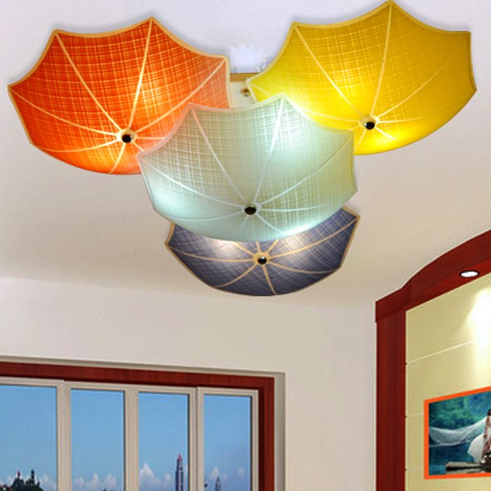 Modern children bedroom ceiling lamps multicolour umbrella glass modern children bedroom ceiling lamps multicolour umbrella glass lampshade kids room lights e27 led lamparas 110v 220v affiliate mozeypictures Choice Image