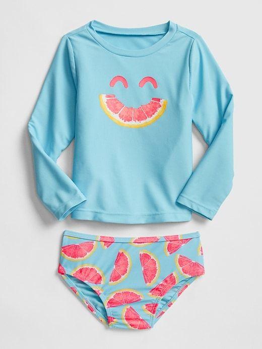 bea5d69bf4905 Gap Babies' Toddler Rashguard Swim Two-Piece Grapefruit | Products ...
