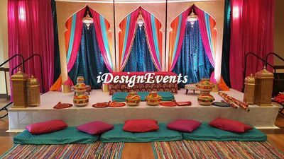 Morrocan Arch Gold Mehndi Sangeet Henna Jago Party Backdrop