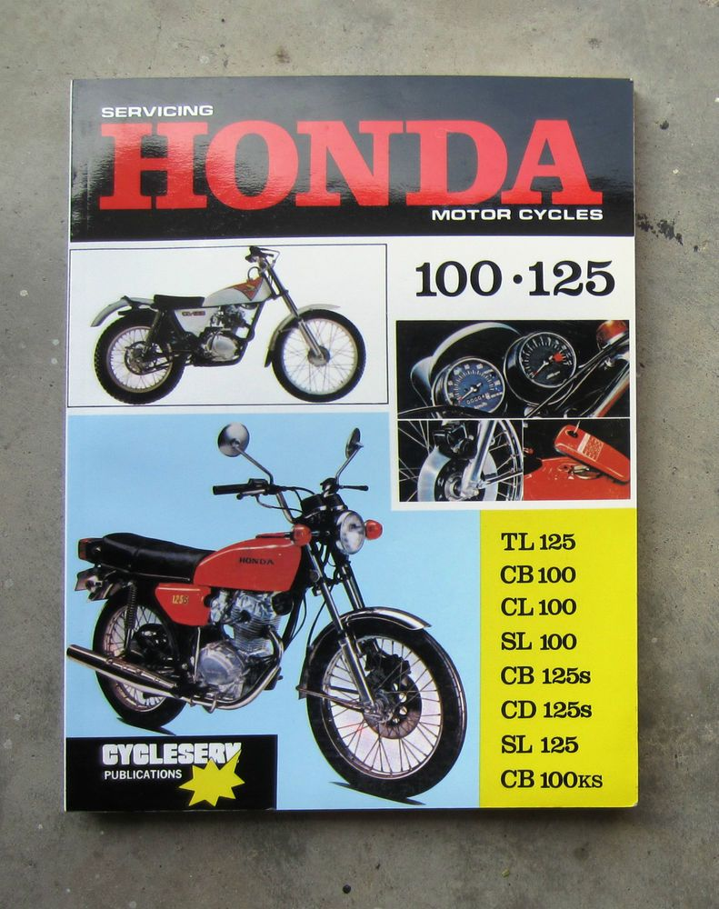 HONDA CB125 - Owners Workshop Service Repair Manual CB 125 100 CD SL CD125  SL125 #HONDA