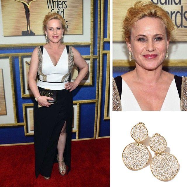 Patricia Arquette Wearing Ippolita 18k Gold Stardust Diamond Clip Snowman Earrings