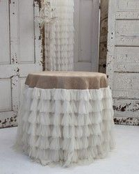 Couture Dreams Chichi Ivory Petal Tablecloth