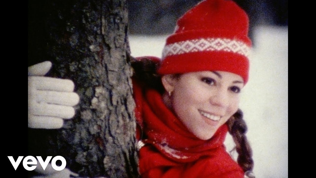 Mariah Carey All I Want For Christmas Is You Unreleased Video Footage No 1 Hot 100 Song Mariah Carey Mariah Carey Christmas Cute Diy Hair Accessories