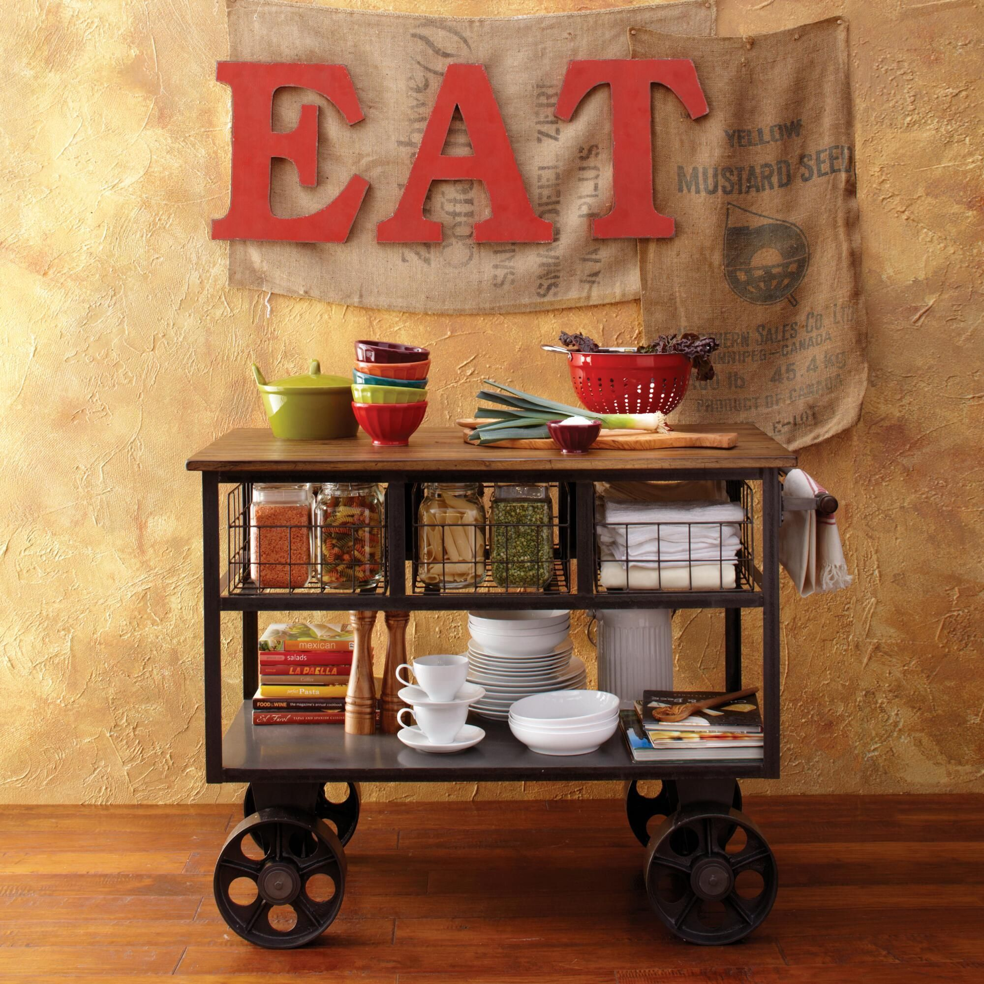 Bryant Mobile Kitchen Cart | World Market | Wash Day Remodel ...