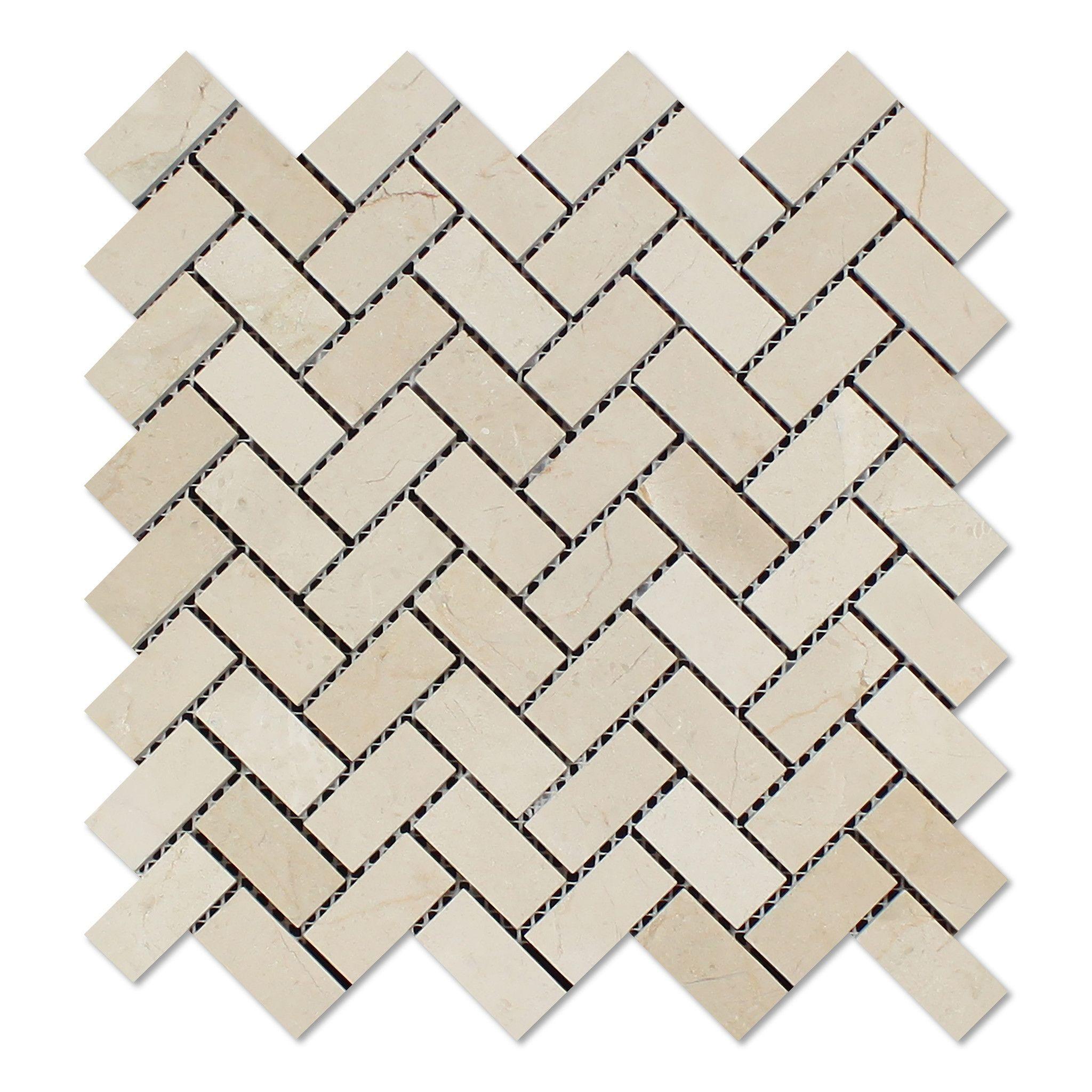 Crema marfil marble polished 1 x 2 herringbone mosaic tile buy crema marfil marble polished 1 x 2 herringbone mosaic tile sample product attributes item dailygadgetfo Images