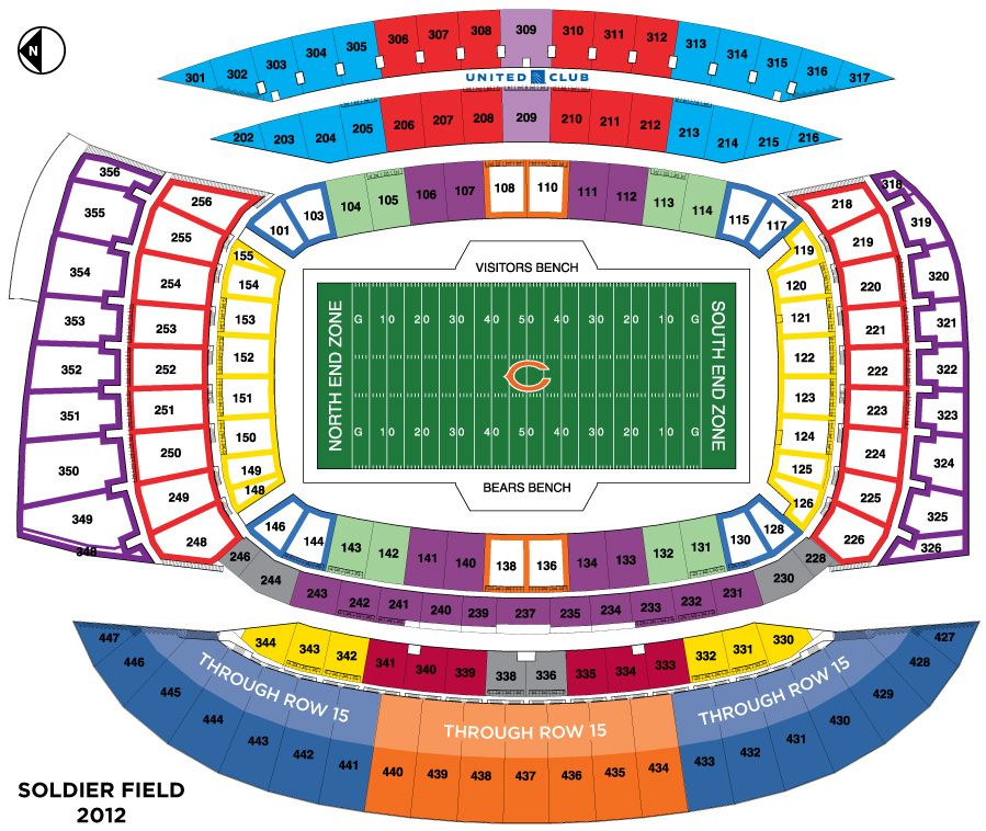 We Re Sitting In Section 122 Awesomesauce Soldierfield Seating Chart Chicago Bears Football Chicago Bears Stadium Chicago Bears Tickets