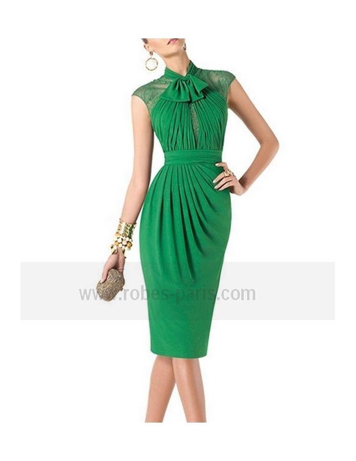 robe de cocktai tc335 couleur de la robe vert uen. Black Bedroom Furniture Sets. Home Design Ideas