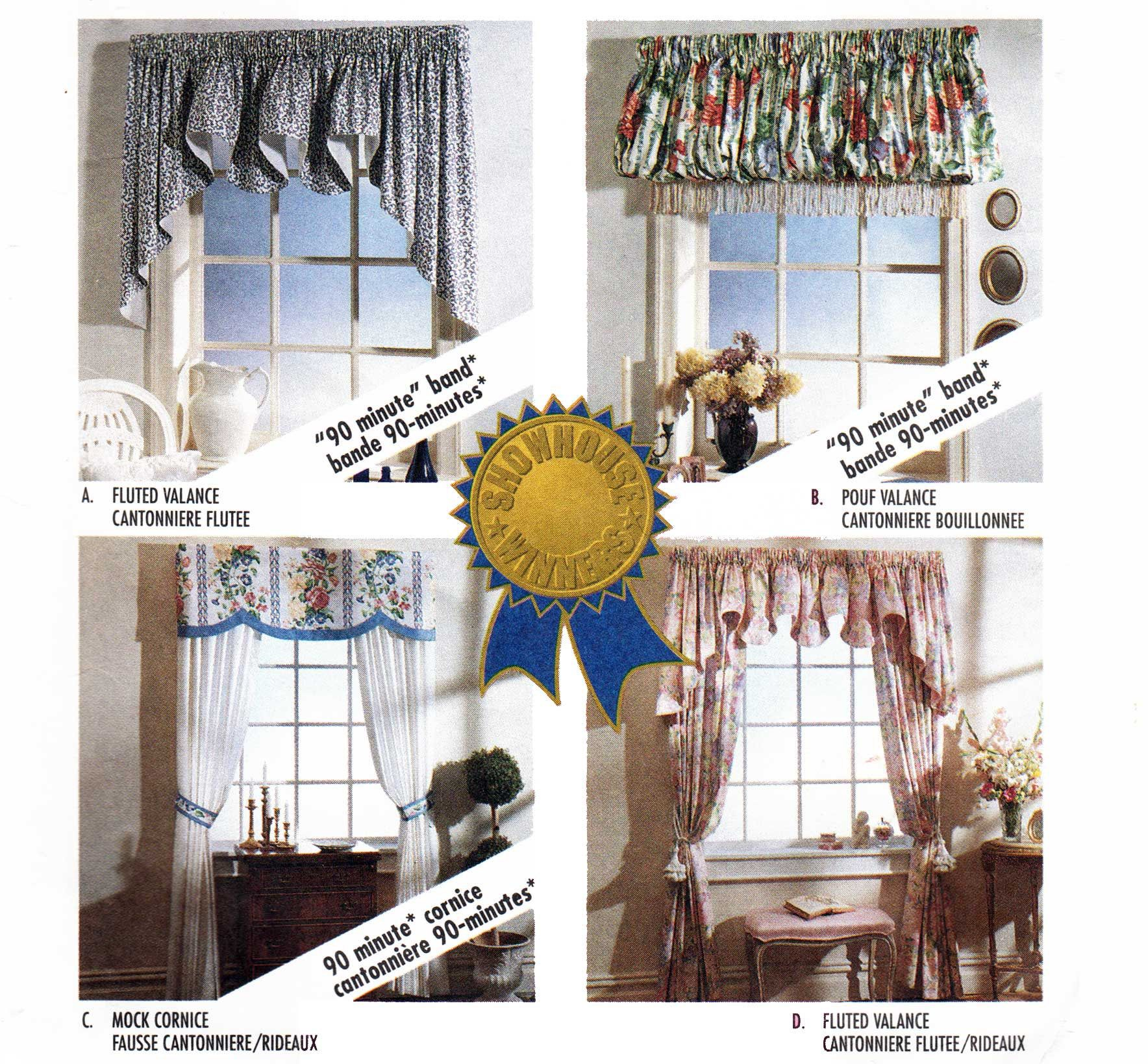 Window Treatments Pattern Valance And Jabots Pattern Mock Cornice And Drapes Pattern 1990s Home Decor Sewing Pattern Mccalls Sewing Patterns Valance Home Decor