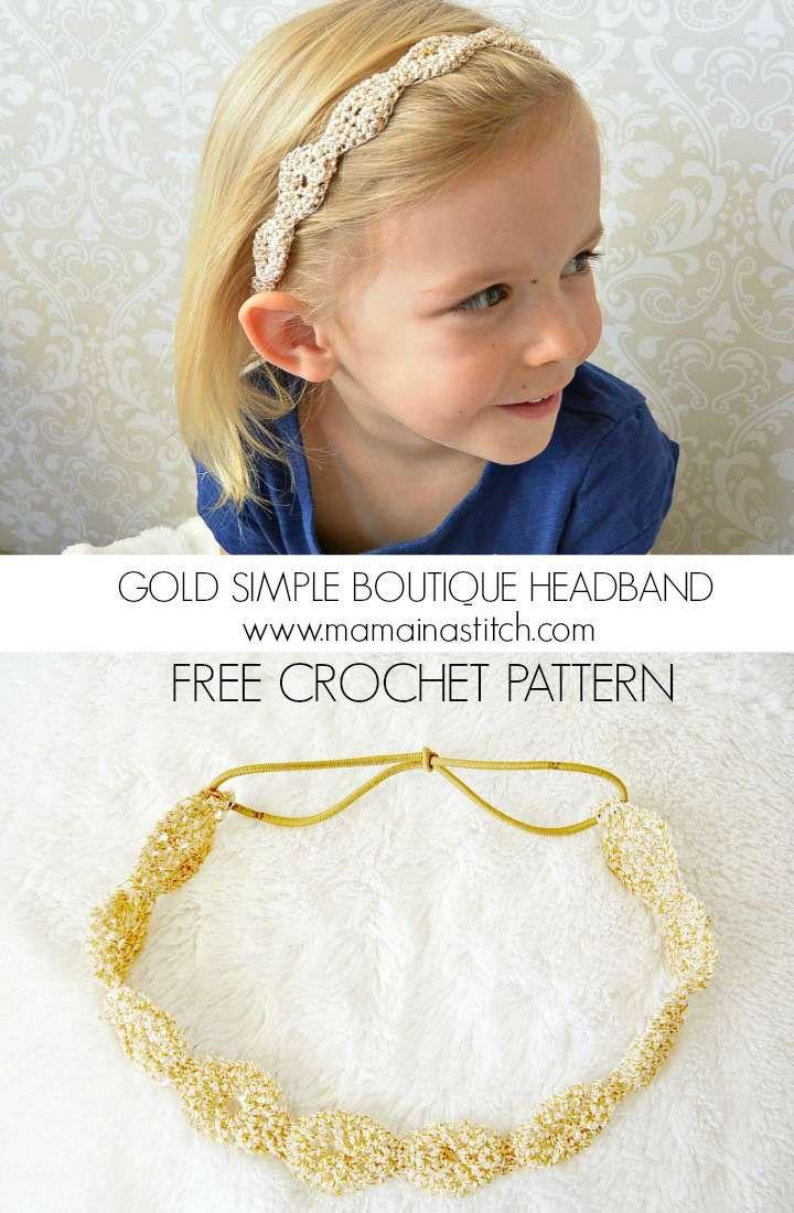 Crochet Beautiful Headband | Let\'s Crochet | Pinterest | Bebé y Joyerías