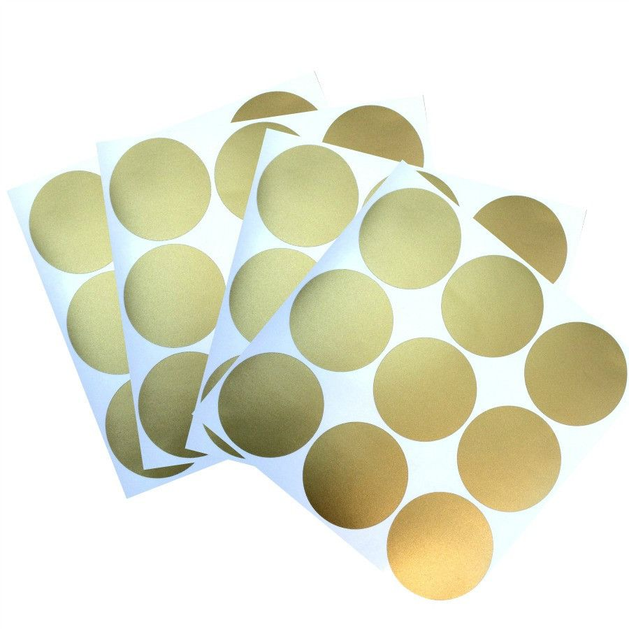 For less than $10, 4 sheets of gold confetti wall decals, 36 polka ...