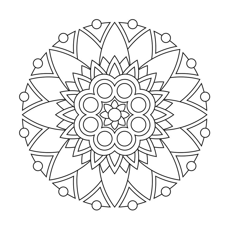 Mandalas For Kids Miscl Coloring Pages Mandala Coloring Pages