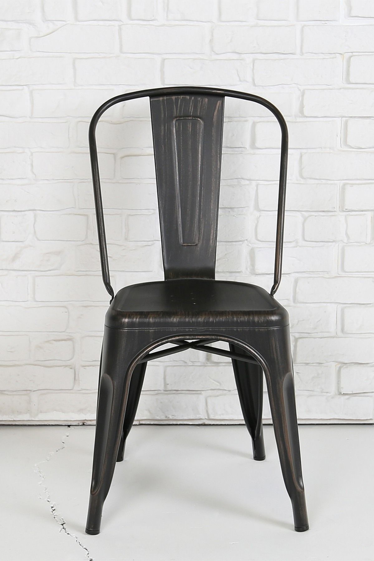 Walker Edison Furniture Company   Black Stackable Metal Cafe Bistro Chair  Is Now 19% Off