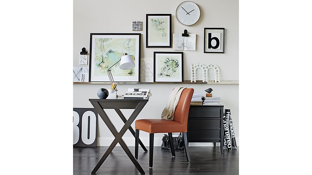 Crate And Barrel Office Furniture. Furniture Lowe Persimmon Leather Dining  Chair Crate And Barrel To