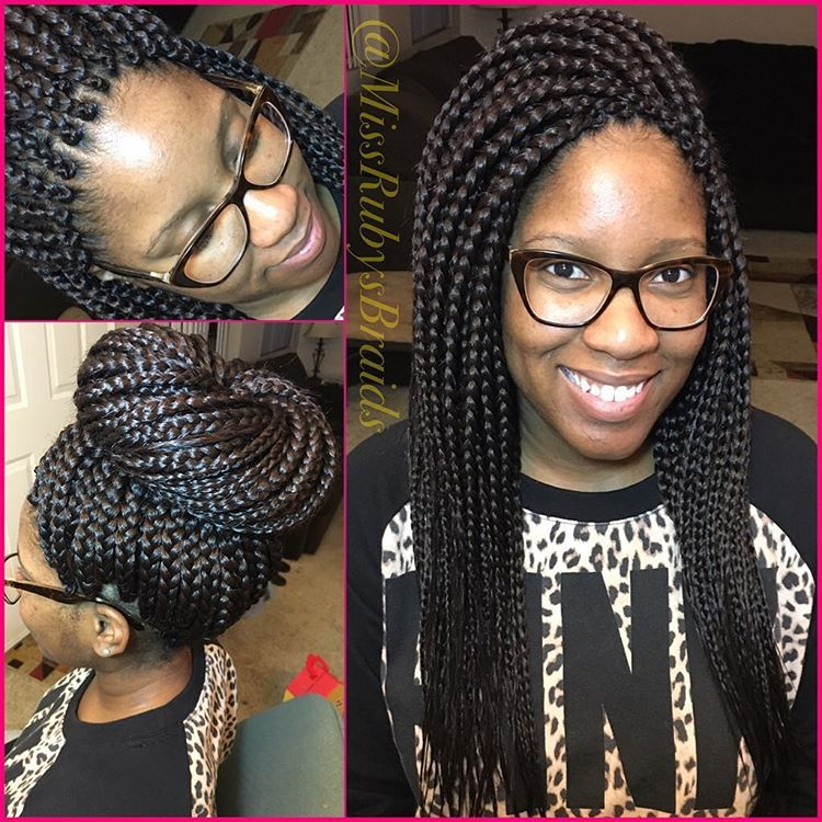 Admirable Medium Box Braids With Close Parts In Front On Top For An Extra Schematic Wiring Diagrams Amerangerunnerswayorg