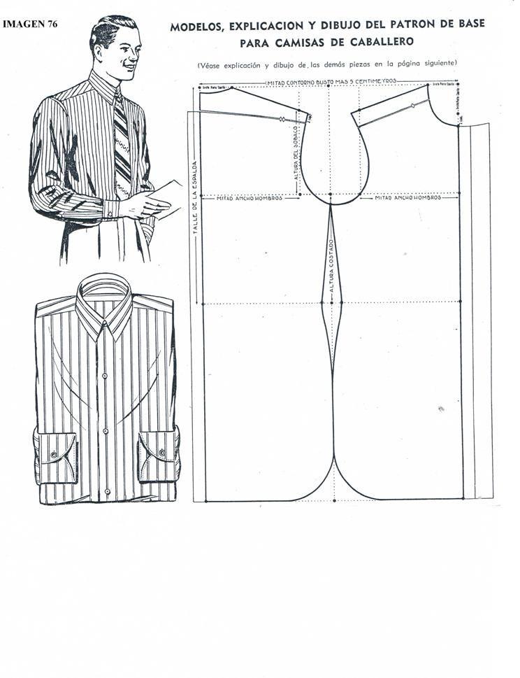 Molde+camisa de caballeros | costura fácil | Pinterest | Costura ...