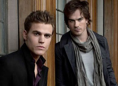 Oh those Salvatore brothers, Katherine knew what she was doing. <3 Vampire Diaries and Ian Somerhalder and Paul Wesley.