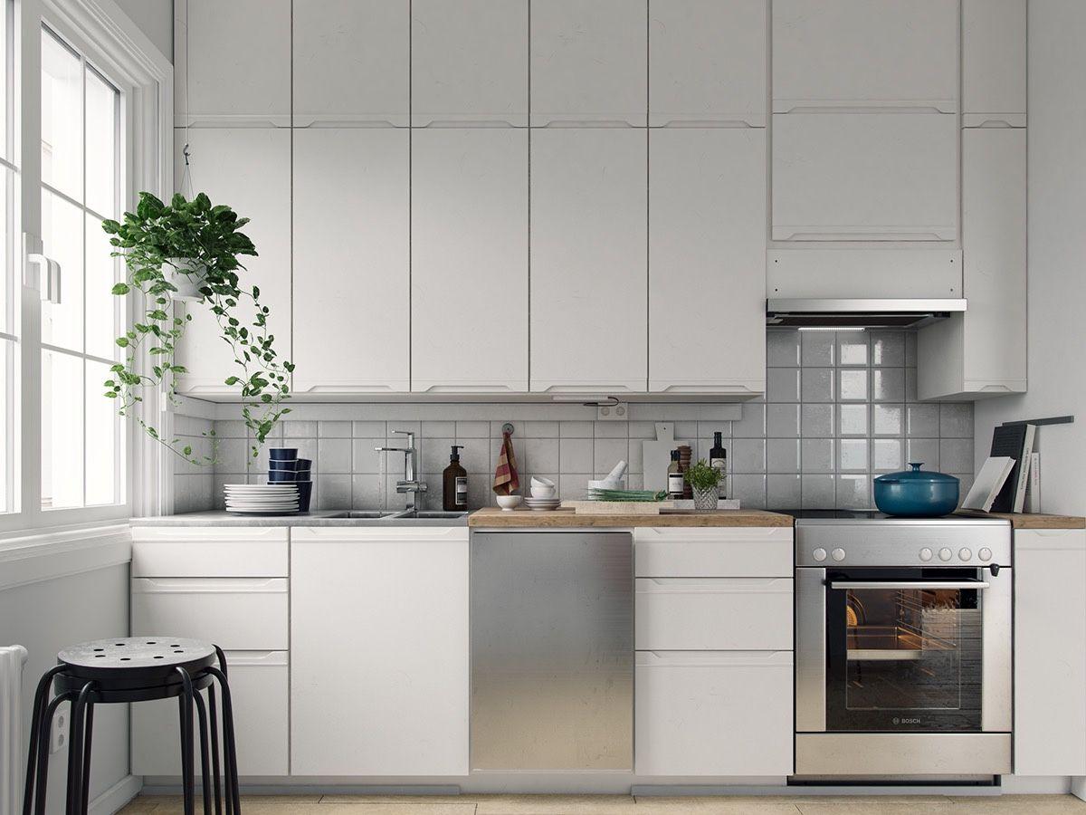 plain-white-cabinetry-chrome-features-Scandinavian-kitchen.jpg (1200×900)