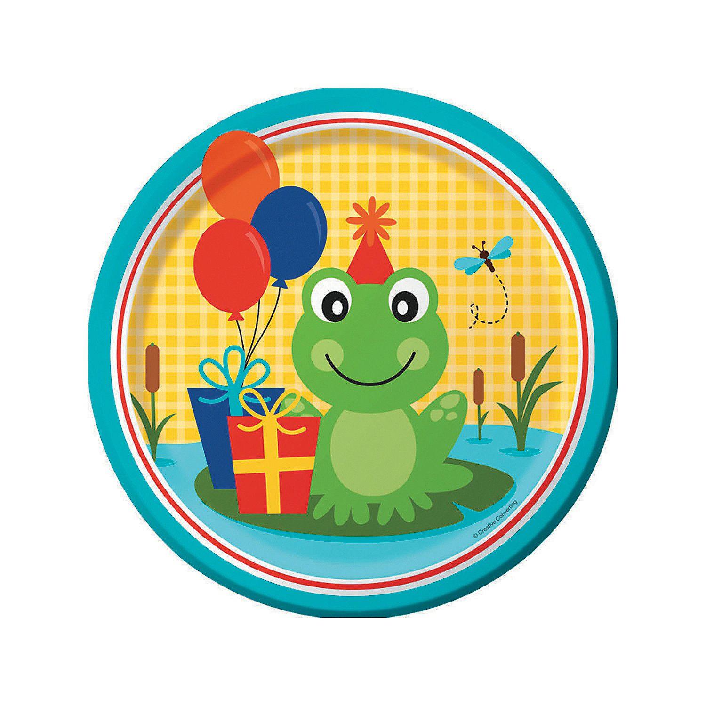 Frog Pond Fun Dinner Plates - OrientalTrading.com  sc 1 st  Pinterest & Frog Pond Fun Dinner Plates - OrientalTrading.com | Froggy Kids ...