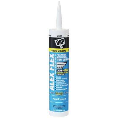 Dap Alex Flex 10 1 Oz White Premium Molding And Trim Sealant 18542 The Home Depot In 2020 Moldings And Trim Sealant Staining Wood