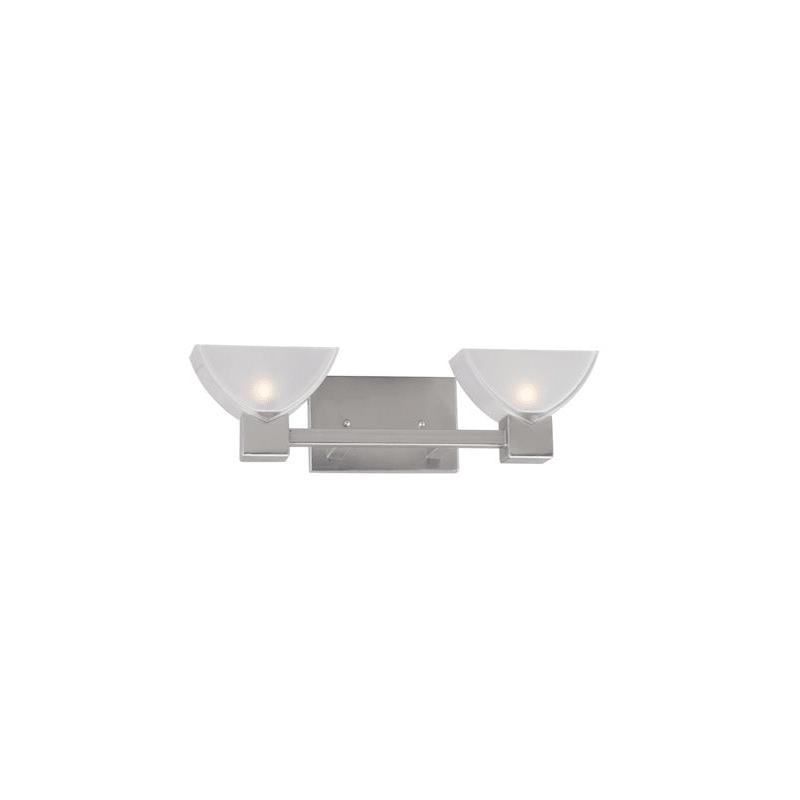 "Photo of Forte Lighting 5079-02 2 Light 18-1 / 2 ""Wide Bathroom Washbasin Light Brushed Nickel Interior Lighting Bathroom Lights Washbasin Light"