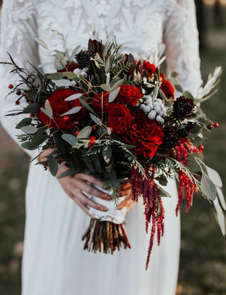 The Bridesmaids Wore Burgundy in this Laid Back Winter Wedding | Green Wedding Shoes