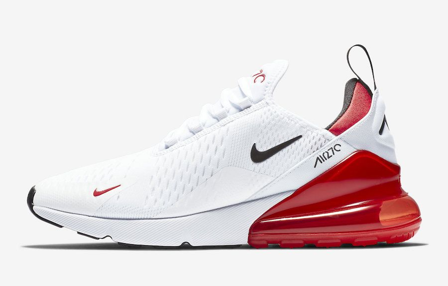 b1c63d7bc6c2 Nike Air Max 270 White University Red BV2523-100 Release Date ...