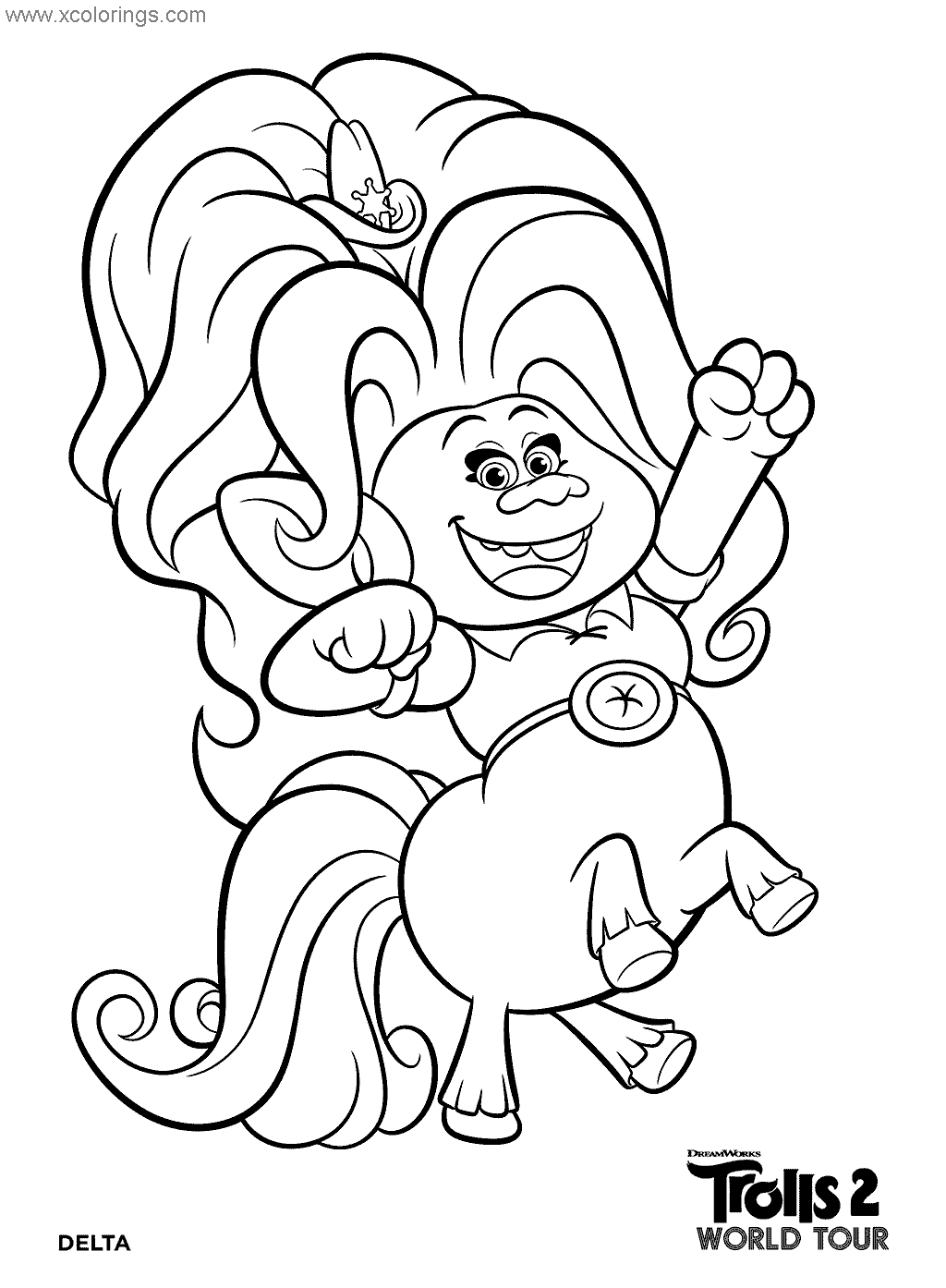 Delta From Trolls World Tour Coloring Pages Monster Coloring Pages Poppy Coloring Page Coloring Pages