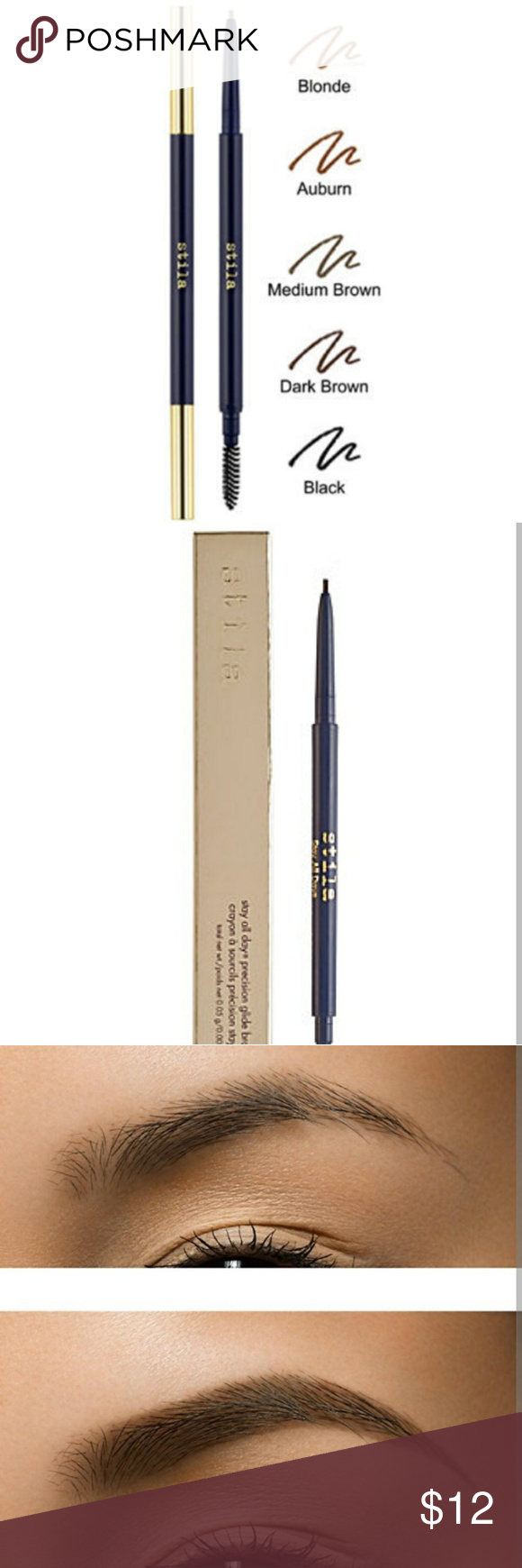 Stila Stay All Day Brow Pencil Auburn Nwt My Posh Closet