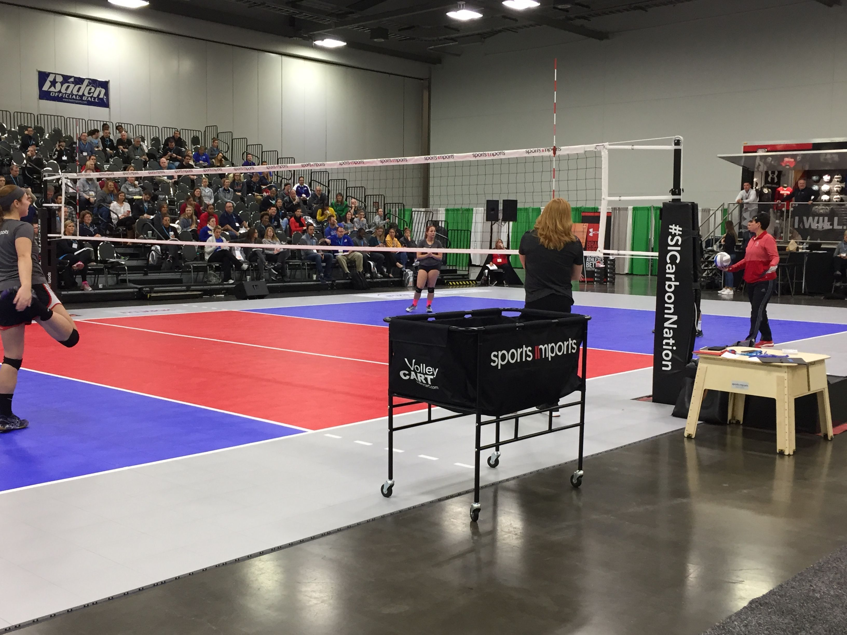 Court Demos At The Avca Convention 2016 Volleyball Net Outdoor Volleyball Net Volleyball Equipment