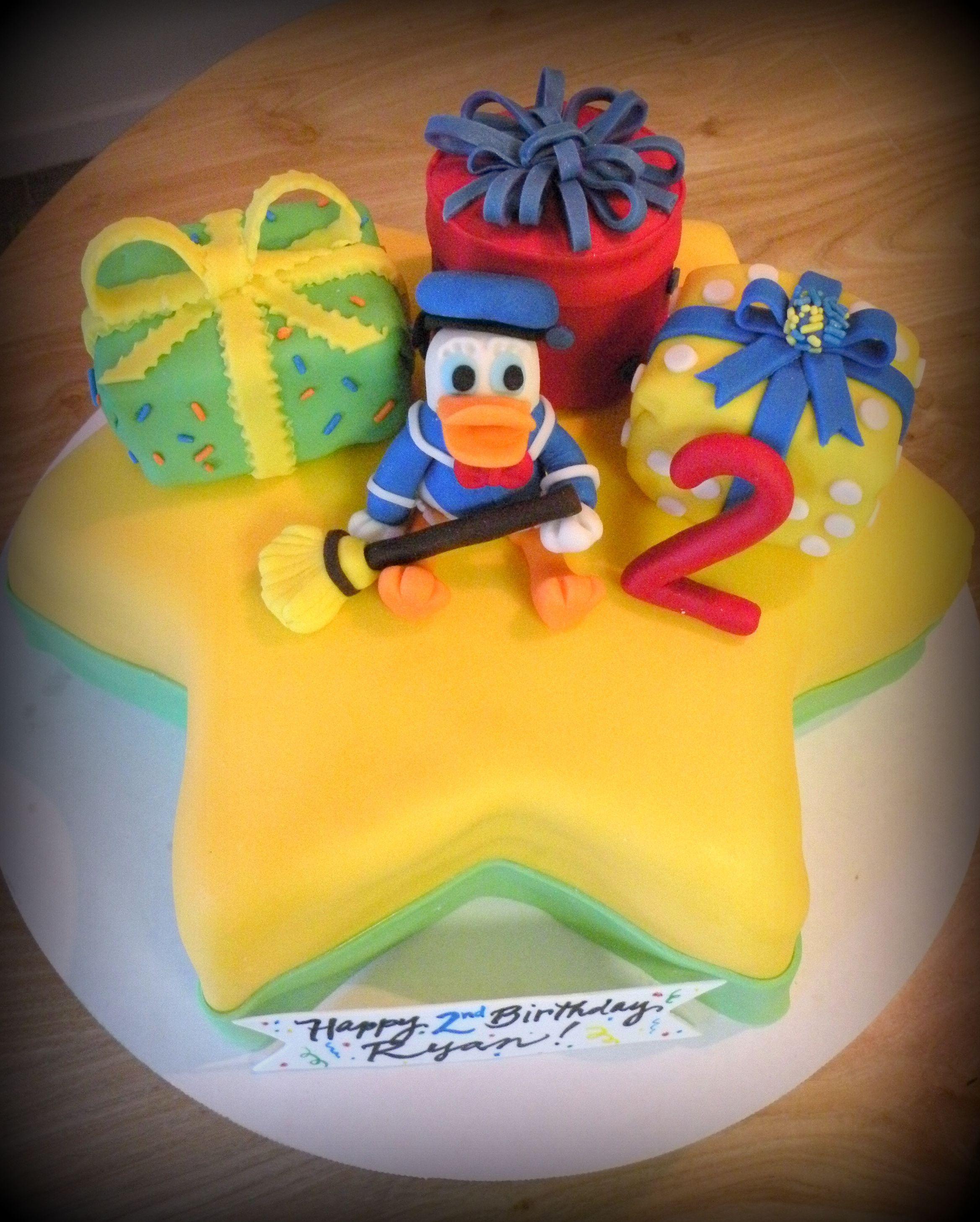 Donald Duck Themed 1st Birthday Cake Donald Duckmickey Mouse