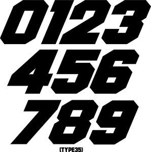 Custom Mx Number Plate Decals Motocross Atv Bmx Trial Go Kart