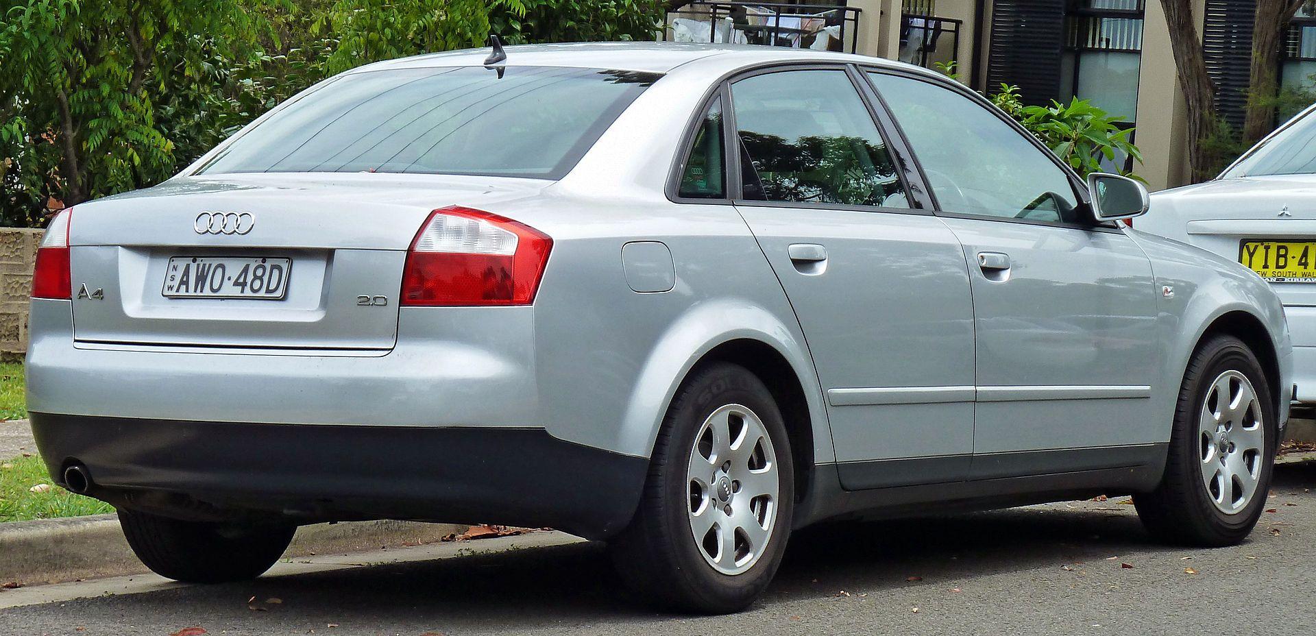 2001-2005 audi a4 (8e) 2.0 sedan 03 - audi a4 - wikipedia | audi