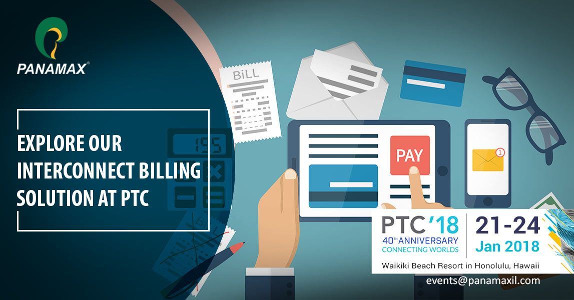 Looking for a complete interconnect #billing solution? Meet #Panamax team at #PTC18 from January 21-24. Book a meeting slot via http://ow.ly/AIxK30hDsZ3