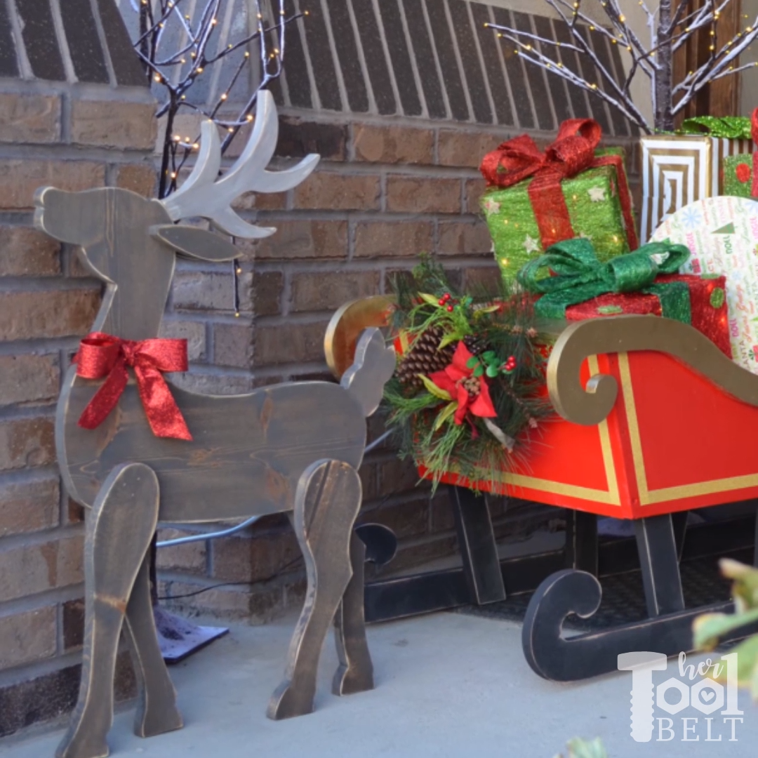 Wood Reindeer - free pattern -   20 diy christmas decorations for outside wood ideas
