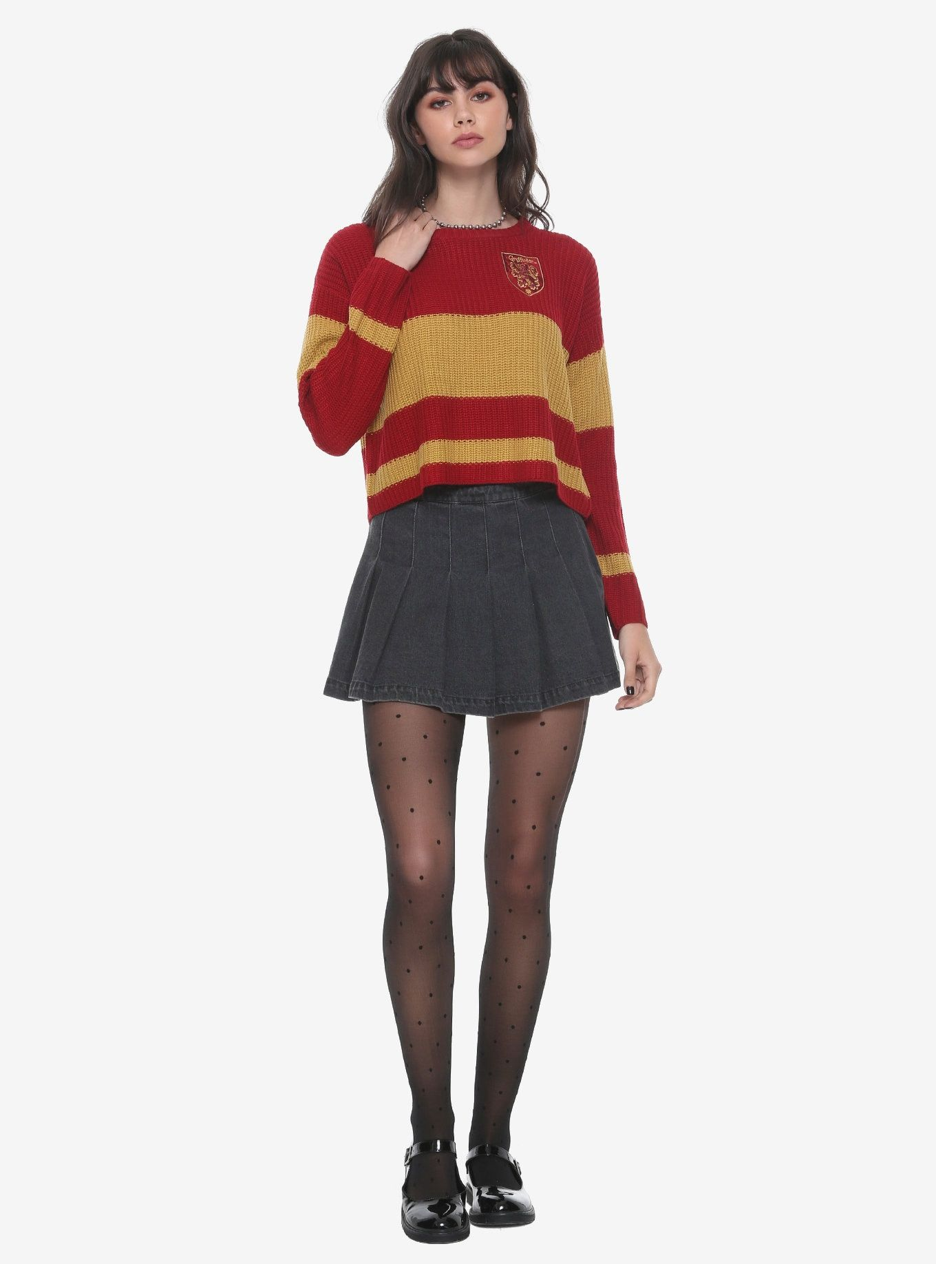 b6071ee8dd9 Harry Potter Gryffindor Girls Quidditch Sweater in 2019 | Clothes ...