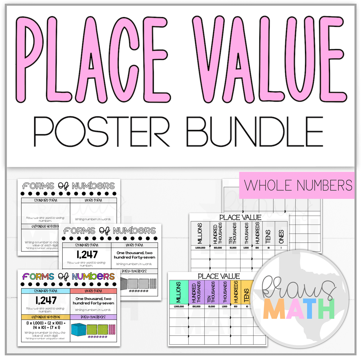 3rd Grade Place Value Amp Forms Of Numbers Bundle