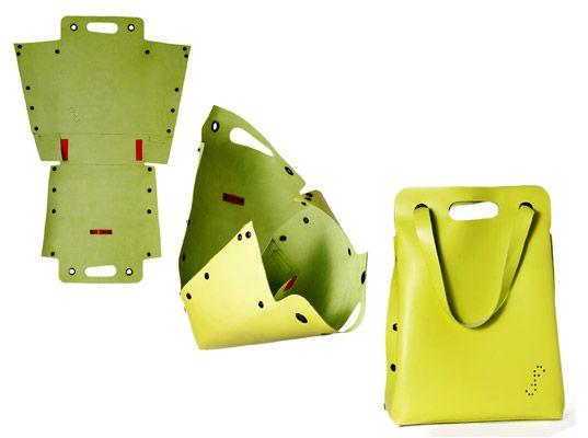 Flat-Pack Eco-Fashion Accessories by Deux Filles En Fil